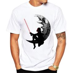 Darth Vader Waning Crescent Deathstar Tee