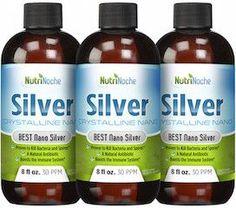 NutriNoche Nano Colloidal Silver 8 oz. 30 PPM - Liquid Immune System Booster