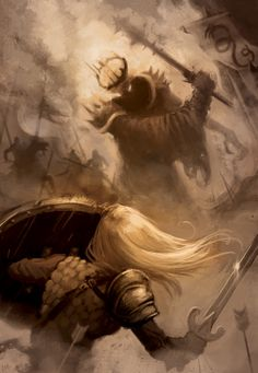 Eowyn and the Nazgul. Eowyn is litterally the biggest bad ass I can think of. She gets so little of the credit she deserves!