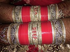 Details about  / Wedding Bangles with name and photo bridal chuda online designer chooda