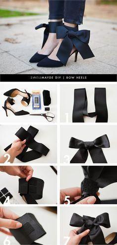 15 Easy Ideas For DIY High Heels diy bow heels bmodish Trendy Fashion, Fashion Tips, Fashion Design, Fashion Trends, Fashion Ideas, Women's Fashion, Fashion Hacks, Lolita Fashion, Cheap Fashion