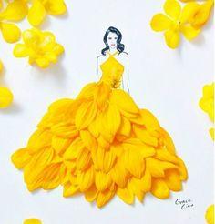 42 New Ideas Fashion Sketches Illustration Grace Ciao - Fashion Grace Ciao, Arte Fashion, Floral Fashion, Fashion Dresses, Trendy Fashion, Fashion Design, Dress Sketches, Fashion Sketches, Drawing Fashion