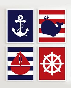 Nautical Prints, Nautical Nursery Decor, Nautical Party, Baby Canvas, Kids Canvas, Nautical Photo Booth, Et Wallpaper, Canvas Painting Designs, Sailor Baby Showers