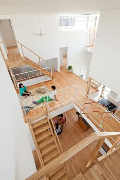 Share House LT Josai by Naruse Inokuma Architects Co-living communal space Stairs Architecture, Interior Architecture, Open Space Architecture, Architecture Student, Ancient Architecture, Interior Design, Co Housing, Social Housing, Loft House