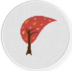 Retro Tree Cross Stitch Pattern