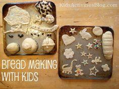 "Bread making with children... ("",)"