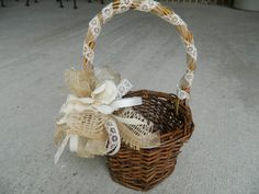 Rustic Flower Girl Basket via Etsy