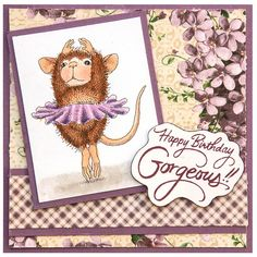 House Mouse Stamp by Stampendous - Cling Ballerina Baby - Scrapbooking Made Simple