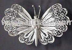 Brooch Filigree Silver Butterfly
