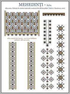 Beading Patterns, Knitting Patterns, Romania People, Folk Embroidery, Hama Beads, Traditional Art, Blackwork, Pixel Art, Cross Stitch Patterns