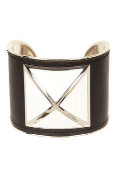 Rebecca Minkoff Large Enamel Stud Leather Cuff by Rebecca Minkoff on @HauteLook