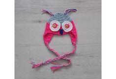 Crochet owl hatowl hat for babynewborn owl by Amaiahandmade