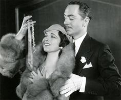 "William Powell and Kay Francis in ""Jewel Robbery"" (1932)"