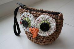 plarn owl wristlet by Emily Lindberg, via Flickr