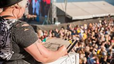 RUISROCK 2017 YleX   Johanna Sinkkonen Livestream Sketching   #artbyjohannasinkkonen www.johannasinkkonen.com