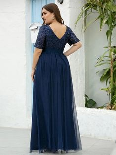 UK Ever-Pretty Plus Maix Party Dress Lace Chiffon Mother of Bride Celebrity Gown