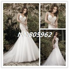 Find More Wedding Dresses Information about 2014 Charming Appliques Sweetheart Mermaid Wedding Dresses vestido de noiva Tulle Spaghetti Straps Open Back Bridal Gowns F70,High Quality Wedding Dresses from Suzhou Romantic Wedding Dress Co. Ltd on Aliexpress.com