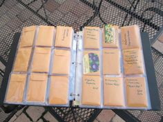 One of my big and time consuming projects for the winter months, organizing all the seeds I collected and traded over the past few months.   I had a folder and some pokemon card holders my son outgrew, just the perfect size for coin envelopes. Those I use for trading.   The plastic sleeves hold two seed envelopes giving me plenty of storage.