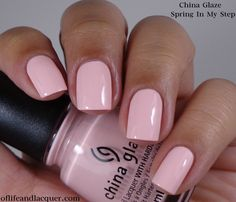 China Glaze City Flourish Collection Spring 2014 – Spring In My Step