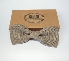 Burlap Wedding Bow Tie. It may not be as rustic as you are thinking...
