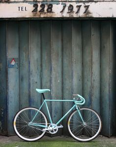Vintage Bianchi bicycle in Celeste Green // Vintage Bianchi bike in Mint Green