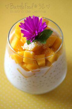 Nusret Hotels – Just another WordPress site Mango Desserts, Raw Dessert Recipes, Raw Food Recipes, Asian Recipes, Sweet Recipes, Creme Dessert, Tapioca Dessert, Happy Vegan, Vegetable Drinks