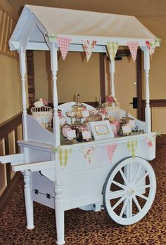 Candy cart by elegant wedding supplies of Yorkshire Candy Cart, Flower Cart, Wedding Supplies, Elegant Wedding, Toddler Bed, Entertaining, Sweet Tables, Diy, Baby Fever