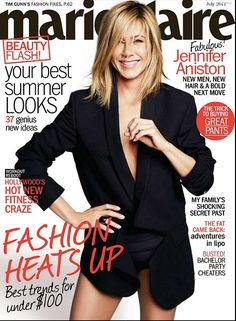Jennifer Aniston Shows Skin in a Little Blazer For a Hot Marie Claire Shoot! Peinados Jennifer Aniston, Jennifer Aniston Hair, Jennifer Aniston Pictures, Jenifer Aniston, Hair A, New Hair, Hair Bangs, Long Hair, Blake Lively