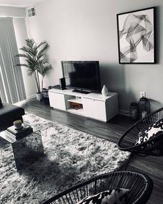 Living Room Grey, Home Living Room, Living Room Designs, Living Room Decor, Living Spaces, Bedroom Decor, Black White And Grey Living Room, Bedroom Ideas, Living Room Goals