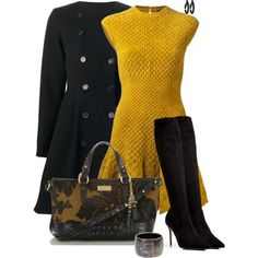 Wool Skater, created by corenna-obrien on Polyvore