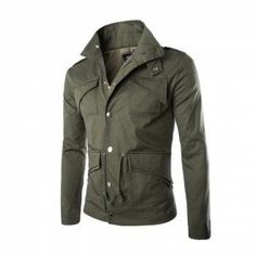 #DressLily - #Dresslily Men s Safari Jacket MIlitary Jackets Coat Men - AdoreWe.com