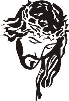 Jesus Christ - Stencil Clip Art PNG - stencil, art, big cats, black, black and white Jesus Drawings, Jesus Art, God Jesus, Jesus Christ Drawing, Jesus Painting, Scroll Saw Patterns, Stencil Art, Drawing Stencils, Stencil Graffiti