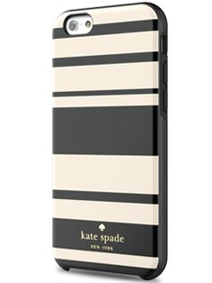 Incipio Kate Spade Black/Cream Fairmont Stripe Hybrid Hardshell Case - iPhone 6