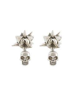 ショッピング Alexander McQueen spike skull cufflinks.