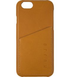 Tan Leather Wallet Case for iPhone 6