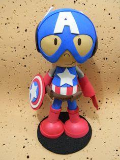 Qmimos - Fazendo Arte brincando: Os Vingadores - Capitão América