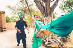 Full On Punjabi Pre-Wedding Shoot by Top Wedding Photographer in India - Shutterdown