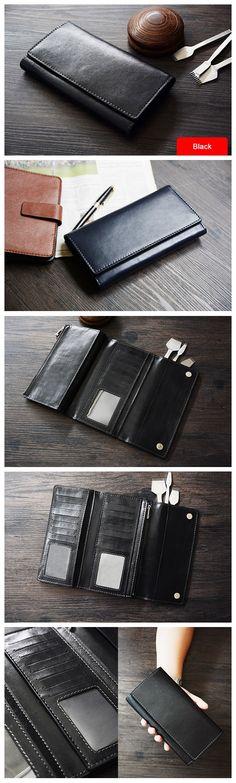 3d21c45dcc0d Custom Handmade Vegetable Tanned Italian Leather Wallet Long Wallet Money  Purse… Кожаные Подарки, Сумки