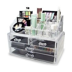 Cameo Carry All Trunk Train Case with Makeup and Reusable Black