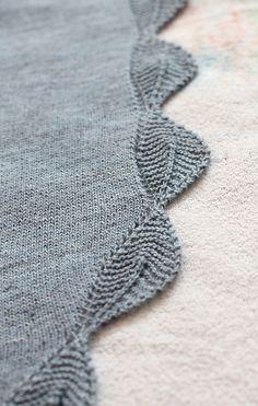 simple shawl - leaf edged.    (free pattern on ravelry)