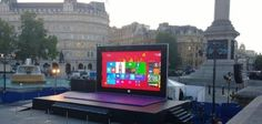 Giant Microsoft Tablet 01 set up in London for you to play on!