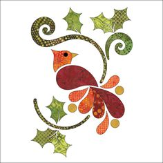 (7) Name: 'Quilting : Applique Add On's Christmas Cardinal Set