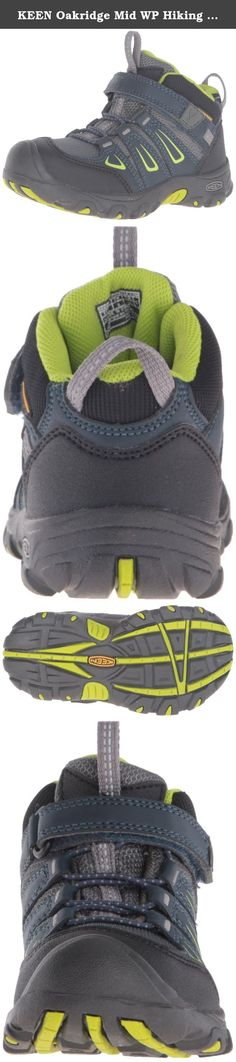 KEEN Oakridge Mid WP Hiking Shoe (Toddler/Little Kid), Midnight Navy/Macaw, 10 M US Toddler. Kid's shoe.