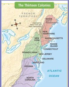 How To Memorize The Colonies In Order As You Tell Stories - 13 colonies map new york city