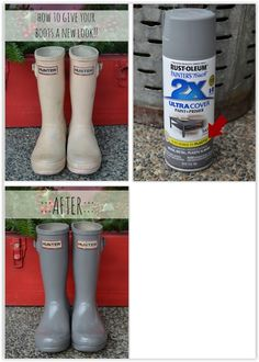 You can paint rubber boots with valspar duramax paint you can get how to give rubber boots a new look with spray paint using rust oleum paint primer made for plastic diy spraypaint rubberboots solutioingenieria Choice Image
