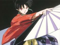 Kagura of Inuyasha. A bad girl that wasn't really bad, you will emphasize with her much more than you could hate her. Her twisted fate was never really hers to begin with.