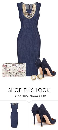 """""""Denim!!!"""" by littlefeather1 ❤ liked on Polyvore featuring Phase Eight, Gianvito Rossi, Chanel, Gabriele Frantzen and Ippolita"""