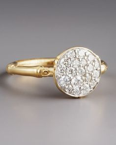 John Hardy Pave Diamond Ring. Gold rings are so much more beautiful!!! Why are they so hard to find!