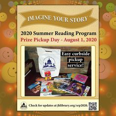 SUMMER READING UPDATE: Our second Prize Pickup day is this Saturday, August 1! Registrants may come to Eudora Welty Library (Jackson patrons) or Quisenberry Library of Clinton (Hinds County patrons) tomorrow to pick up your goodie bags via curbside. Just call when you arrive, and a staff member will look up your account in READsquared and bring your goodie bag to your vehicle. Thanks for participating! #SRP2020 #ImagineYourStory