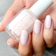 essie 'ballet slippers', a classic sheer pale pink nail polish - essie 'balle. - essie 'ballet slippers', a classic sheer pale pink nail polish – essie 'ballet slippers' - Essie Pink Nail Polish, Sheer Nail Polish, Essie Nail Colors, Natural Nail Polish, Gel Polish, Nail Colors For Pale Skin, Pink White Nails, Pale Pink Nails, Neutral Nails